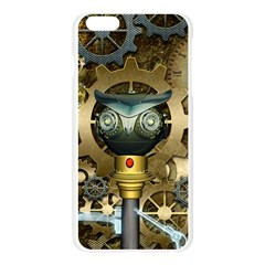Steampunk, Awesome Owls With Clocks And Gears Apple Seamless iPhone 6 Plus/6S Plus Case (Transparent)