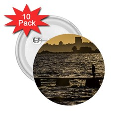 River Plater River Scene At Montevideo 2.25  Buttons (10 pack)