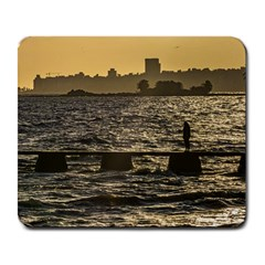 River Plater River Scene At Montevideo Large Mousepads