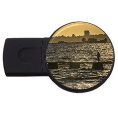 River Plater River Scene At Montevideo USB Flash Drive Round (1 GB)