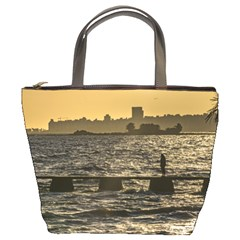 River Plater River Scene At Montevideo Bucket Bags