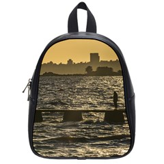 River Plater River Scene At Montevideo School Bags (Small)