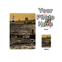 River Plater River Scene At Montevideo Playing Cards 54 (mini)