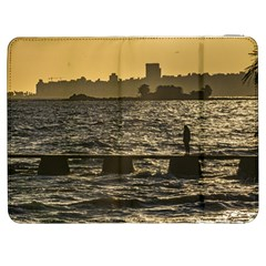 River Plater River Scene At Montevideo Samsung Galaxy Tab 7  P1000 Flip Case