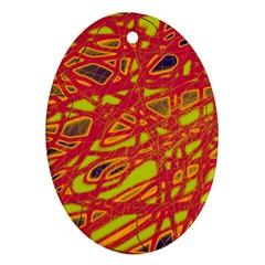 Orange neon Ornament (Oval)