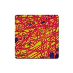 Orange neon Square Magnet