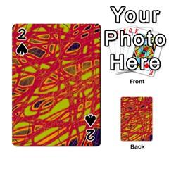 Orange neon Playing Cards 54 Designs