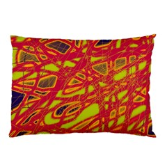 Orange neon Pillow Case