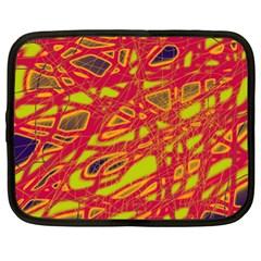 Orange neon Netbook Case (XL)
