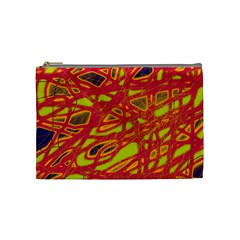 Orange neon Cosmetic Bag (Medium)