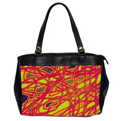 Orange neon Office Handbags (2 Sides)