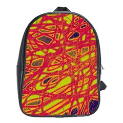 Orange neon School Bags (XL)