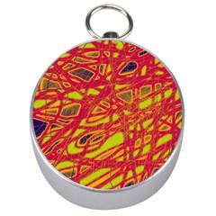 Orange neon Silver Compasses