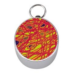 Orange neon Mini Silver Compasses