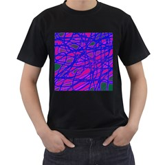 Blue Men s T-Shirt (Black) (Two Sided)