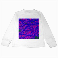 Blue Kids Long Sleeve T-Shirts