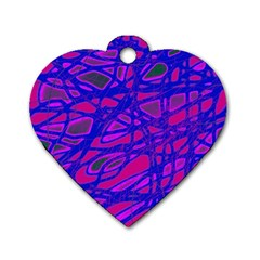 Blue Dog Tag Heart (Two Sides)
