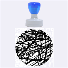 Blue Rubber Round Stamps (Large)