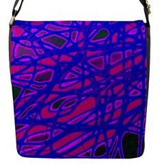 Blue Flap Messenger Bag (S)