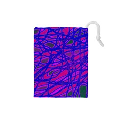 Blue Drawstring Pouches (Small)