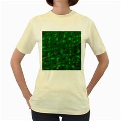 Green  Women s Yellow T-Shirt