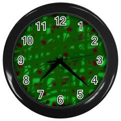 Green  Wall Clocks (Black)