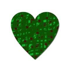 Green  Heart Magnet