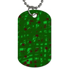 Green  Dog Tag (Two Sides)