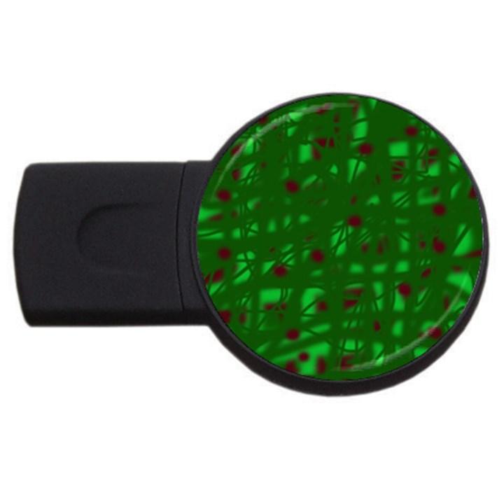 Green  USB Flash Drive Round (2 GB)