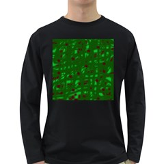 Green  Long Sleeve Dark T-Shirts