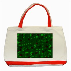 Green  Classic Tote Bag (Red)