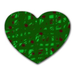 Green  Heart Mousepads