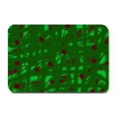 Green  Plate Mats