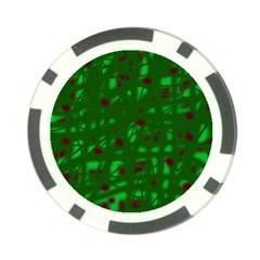 Green  Poker Chip Card Guards (10 pack)