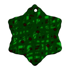 Green  Snowflake Ornament (2-Side)
