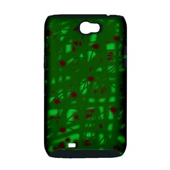 Green  Samsung Galaxy Note 2 Hardshell Case (PC+Silicone)