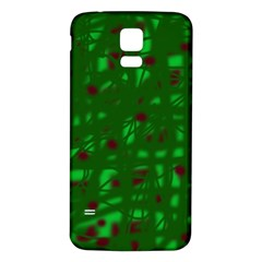 Green  Samsung Galaxy S5 Back Case (White)