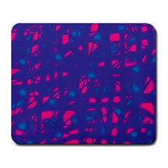Blue and pink neon Large Mousepads