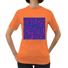 Blue and pink neon Women s Dark T-Shirt