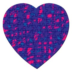 Blue and pink neon Jigsaw Puzzle (Heart)