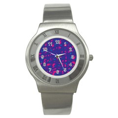 Blue and pink neon Stainless Steel Watch