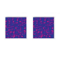 Blue and pink neon Cufflinks (Square)
