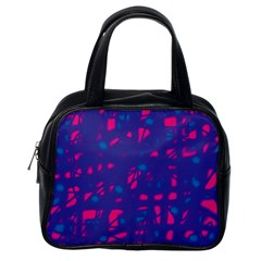 Blue and pink neon Classic Handbags (One Side)