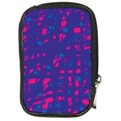 Blue and pink neon Compact Camera Cases