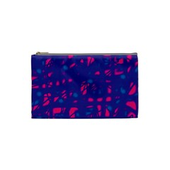 Blue and pink neon Cosmetic Bag (Small)