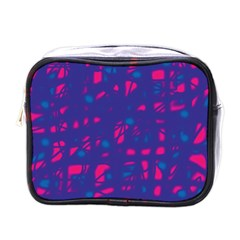 Blue and pink neon Mini Toiletries Bags