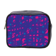 Blue and pink neon Mini Toiletries Bag 2-Side
