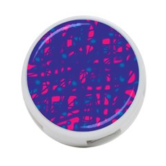Blue and pink neon 4-Port USB Hub (One Side)