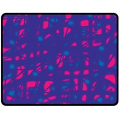 Blue and pink neon Fleece Blanket (Medium)