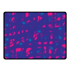 Blue and pink neon Fleece Blanket (Small)